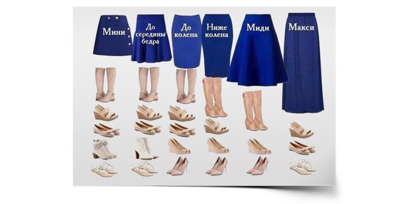 Как выбрать обувь под юбку