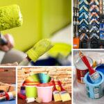 Кисти и краски для малярных работ