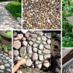 Устройство садовой дорожки из речного камня