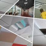 Монтаж модульного подвесного потолка