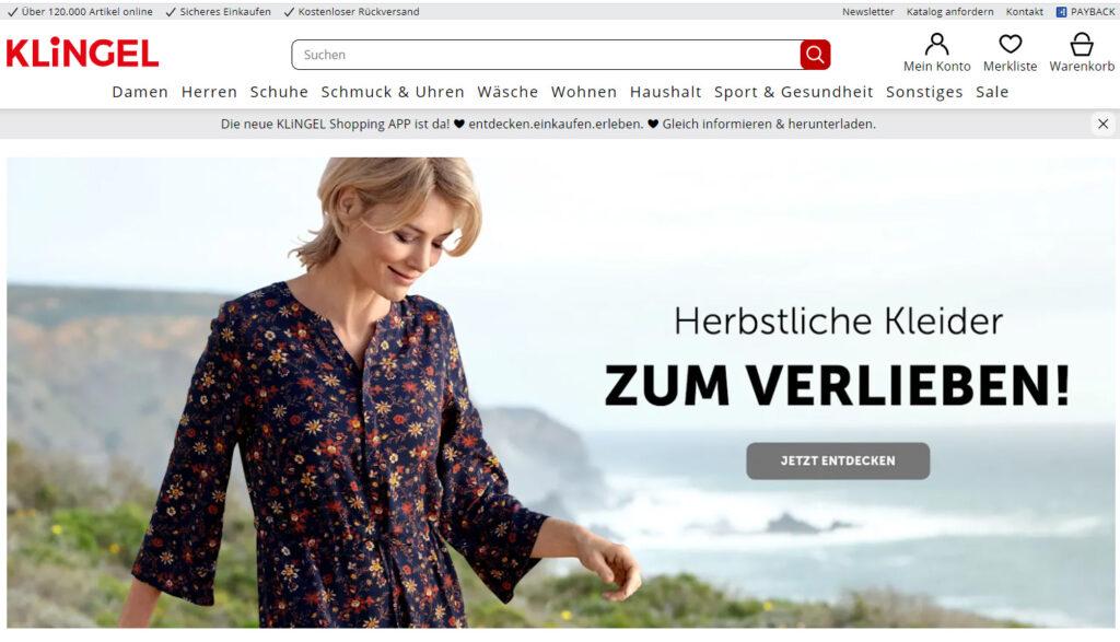Интернет-магазин Klingel