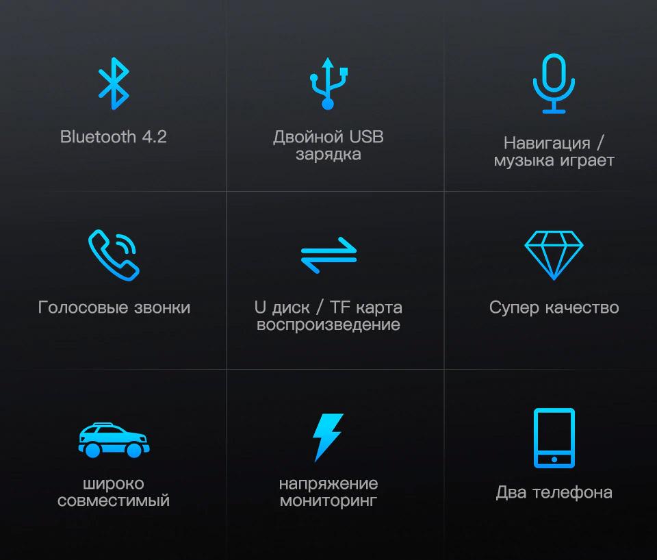 Автомобильный FM-трансмиттер функции
